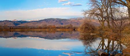 Colorado Front Range Coot Lake Reflections