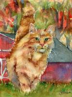 Ginger Tabby Cat Art | Redford