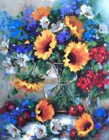 Strawberry Soufflet Sunflower Bouquet