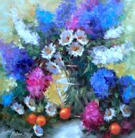 Daisy Hearts and Delphiniums