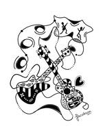 Zentangle Inspired Guitars