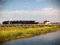 Cargo Ship South Carolina Marsh