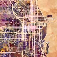 """""""Chicago City Street Map"""" by ModernArtPrints"""