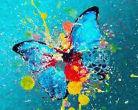 A COLOR BLAST A BUTTERFLY