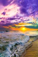 sunset-on-canvas-purple-and-pink-beach-