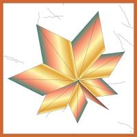 Maple Leaf Origami Art Prints & Posters by Claudia Boté