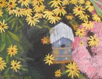 Birdhouse and Black-eyed Susans