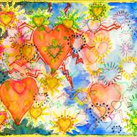 """""""Hearts Electric"""" by SandraGouldFord"""
