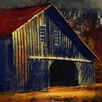 The Old Iowa Hay Barn by Kirt Tisdale