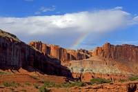 Capitol Reef NP Panorama Point with Rainbow