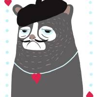 Cat of Hearts Art Prints & Posters by Keira Lagunas