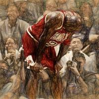 """""""MICHAEL JORDAN - THE FLU GAME"""" by Big88artworks"""