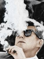 John F Kennedy Cigar and Sunglasses