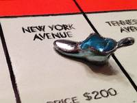 Monopoly Board Custom Painting New York Avenue