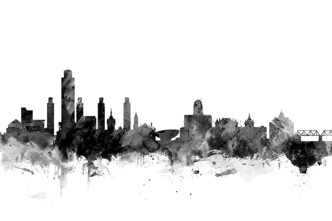 Albany new york skyline by modernartprints 2015