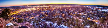 Boulder Colorado Panorama Sunrise Glow
