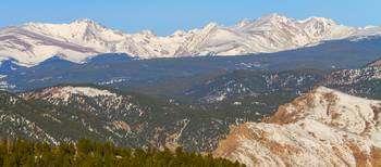 Rocky Mountain Continental Divide Winter Panorama