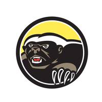 Honey Badger Claws Side Circle Retro