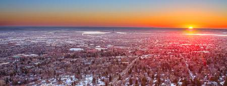 Morning Sunrise Over Colorado University Panorama