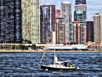 Chicago IL - Sailing on Lake Michigan