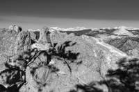 Colorado Rocky Mountain Scenic View Black White