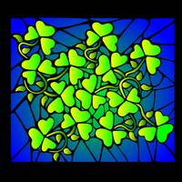 Stained Glass Shamrocks