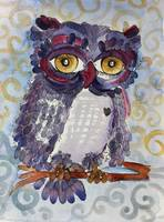 Fizzle Feathered Blue Woot Owl