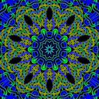 Blue Green Celtic Knot Tile 144