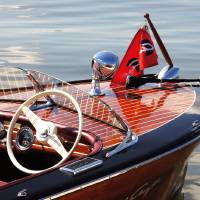 """Chris Craft Deluxe Runabout"" by ntzautomarinephoto"