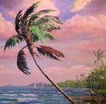 Tropical Vacation Palm Tree by Mazz Original Paintings