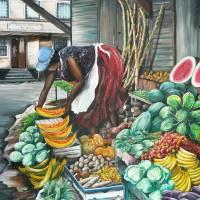 """CARIBBEAN MARKET VENDOR"" by cassiakdkb"