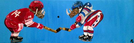 Miracle On Ice, with Rhinoceroses