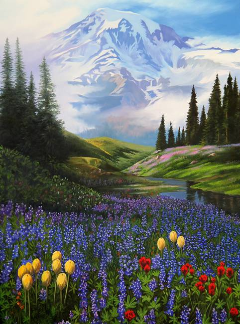 Mount Rainier Meadow