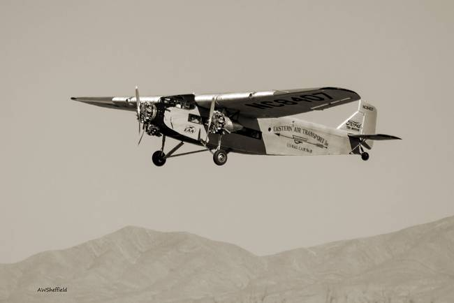 Ford Tri-Motor in Sepia