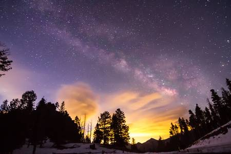 Early Morning Colorful Colorado Milky Way View