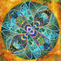 FLOWER  MANDALA / RITA WHALEY by Rita Whaley