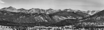 Rocky Mountain National Park Panorama Black White
