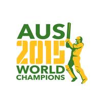 Australia AUS Cricket 2015 World Champions