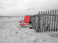 Long Beach-13 with Red Chair