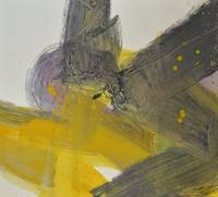 Yellow And Black Abstract 3