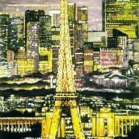 Paris at night Art Prints & Posters by Samir Osmani
