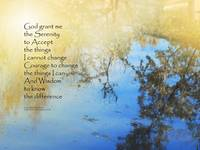 Serenity Prayer Pond Reflections