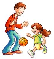 Father Daughter Basketball Playtime