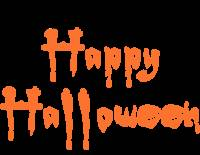 Happy Halloween Orange and Black