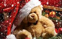 Merry Christmas Teddy Bear Sparkles