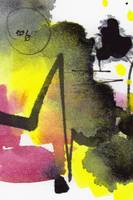 Intuitive Abstract Yellow Pink Black