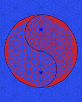 Blue bg FoL Yin & Yang (no stroke)- red