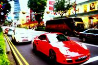 Fast Car and Orchard Road Singapore