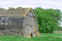 An Abandoned Barn Collapsing