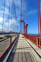 Golden Gate Bridge Walkway and Traffic